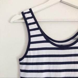 COTTON ON Navy & White Striped Tank Dress